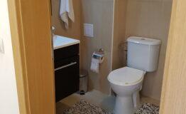 Villa F33. Second floor. Toilet with bath.